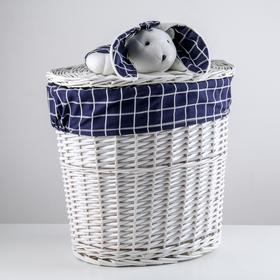 Корзина универсальная плетёная Доляна Love, 41×29,5×47 см, круглая