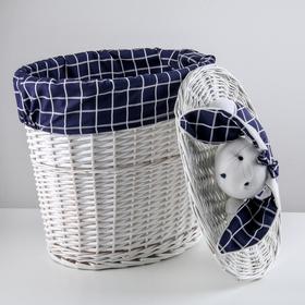 Корзина универсальная плетёная Love, 41×29,5×47 см, круглая - фото 2176627