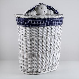 Корзина универсальная плетёная Доляна Love, 50×36×66 см, круглая