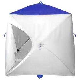 Палатка MrFisher 170, цвет белый/синий, в упаковке, без чехла