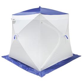 Палатка MrFisher 170 ST, цвет белый/синий, в упаковке, без чехла