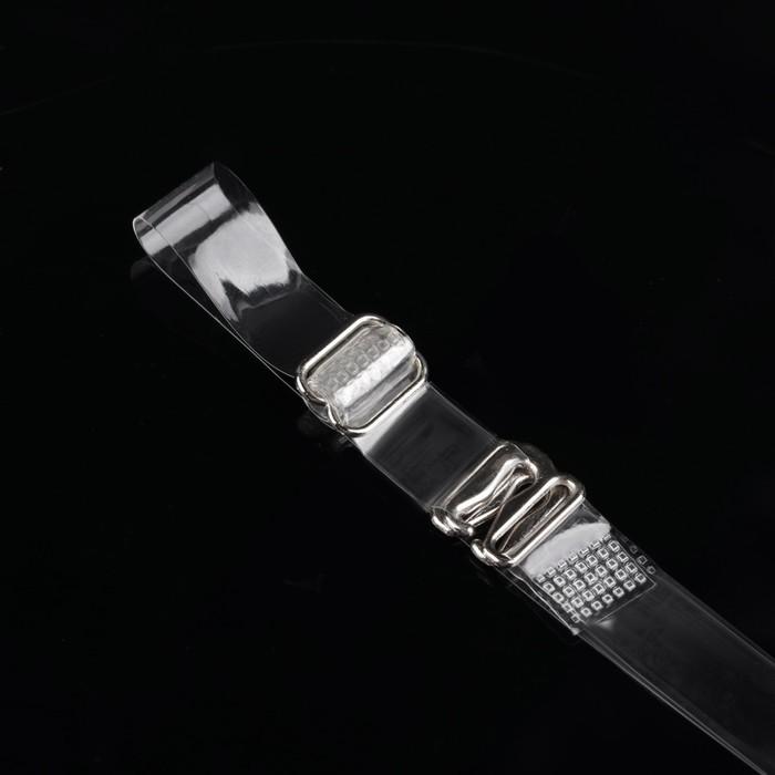 Бретельки силиконовые прозрачные, ширина 1см