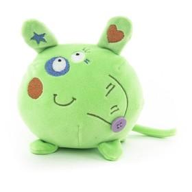 Мягкая игрушка Button Blue «Мышка», зелёная, 10 см