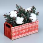 Деревянный ящик с ручками «Красный», 24.5 × 5 × 10 см - фото 702368