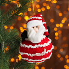 "Soft toy-suspension ""Santa and Snowman"""
