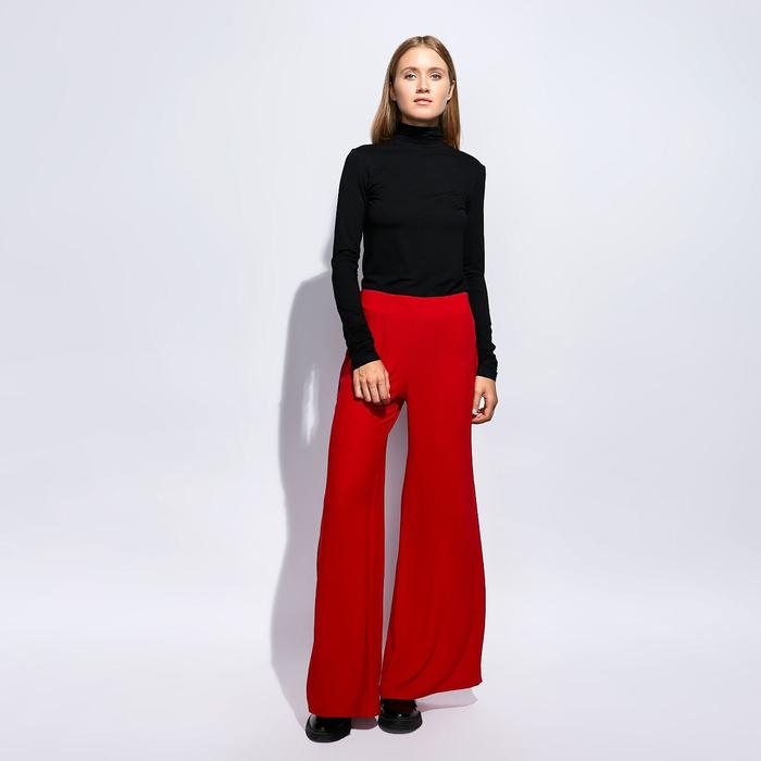 Брюки женские  MINAKU, размер 42, цвет красный