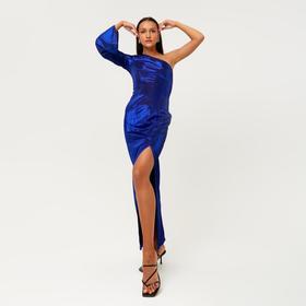 Платье женское MINAKU длинное, размер 46, цвет синий