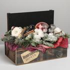 Кашпо с грифельной табличкой «Подарок», 24.5 × 14.5 × 14.6 см - фото 407372