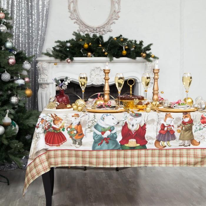"""Набор столовый Этель """"Winter holidays"""" скатерть 180*150 см, салфетки 40*40 см 8 шт, хлопок 1   44966"""