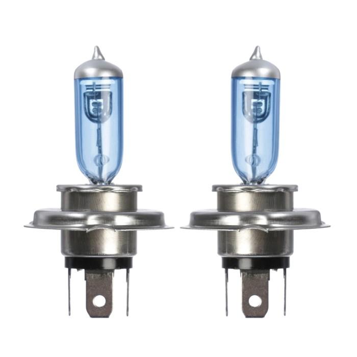 Галогенная лампа Cartage Cool Blue P43t, H4, 60/55 Вт +30%, 12 В, набор 2 шт