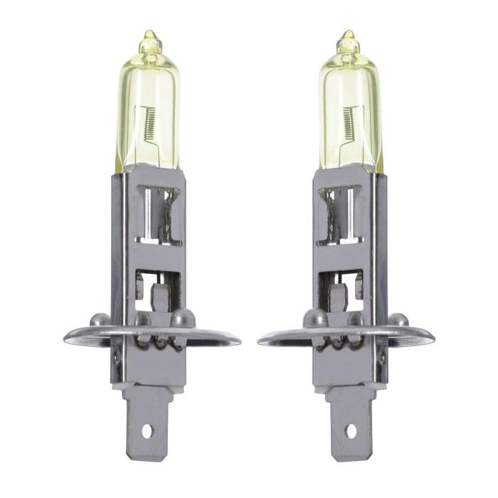 Галогенная лампа Cartage Golden Eye H1, 55 Вт +30%, 12 В, набор 2 шт