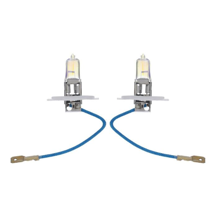 Галогенная лампа Cartage Rainbow H3, 55 Вт +30%, 12 В, набор 2 шт