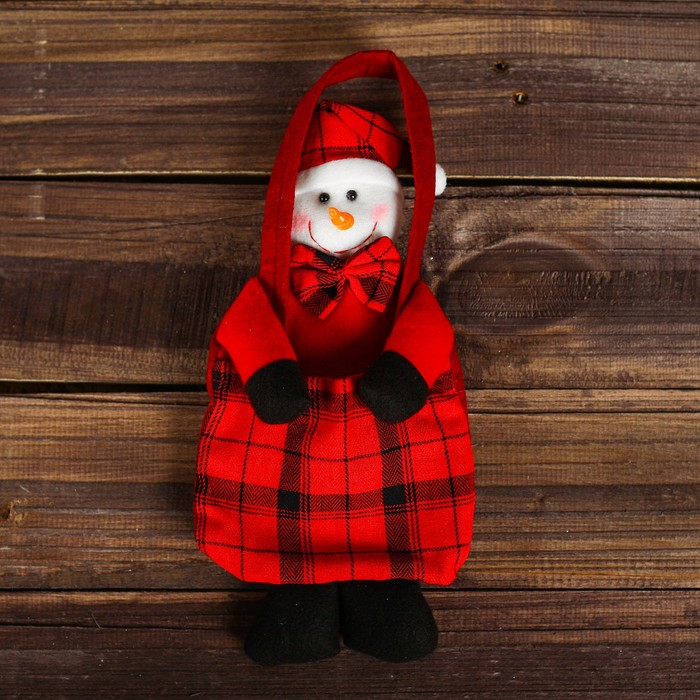 Сумочка для подарков «Снеговик», вместимость 100 г