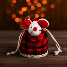 Мешочек для подарков «Мышка», цвета МИКС