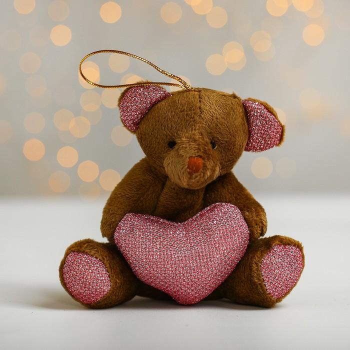 Подвеска «Медведь», с сердцем, цвета МИКС