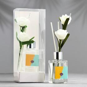 """Диффузор 50 мл, """"Классика"""", лаванда, 2 палочки+цветок"""