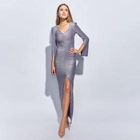 Платье длинное женское MINAKU, размер 42, цвет сиреневый
