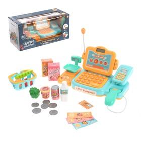 Игровой набор касса-калькулятор со сканером «Супермаркет», со световыми и звуковыми эффектами