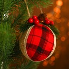 """Pendant """"Christmas ball"""" with twigs, MIX color"""