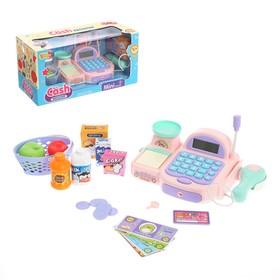 Игровой набор касса-калькулятор со сканером «Минимагазин», со световыми и звуковыми эффектами