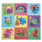 "Mat-jigsaw puzzle ""piece of Wood"", 9 segments"
