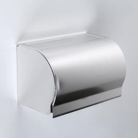 The toilet paper holder 20,5х12х12,6 cm, without sleeve, stainless steel