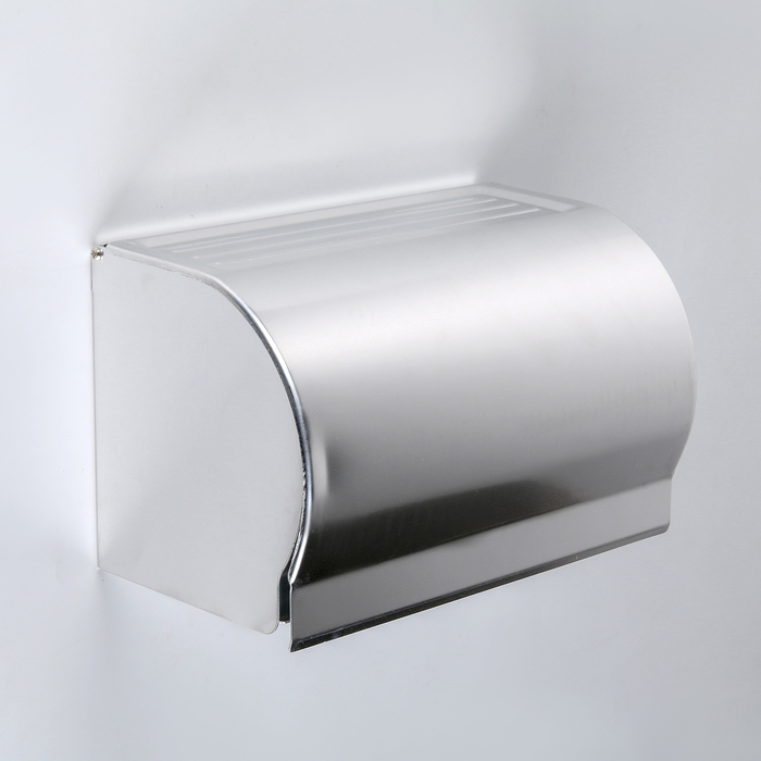 Держатель для туалетной бумаги 20,5×12×12,6 см, без втулки, нержавеющая сталь