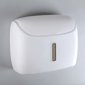 Paper towel dispensers in sheets, plastic white