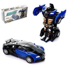 Робот инерционный «Спорткар», трансформируется автоматически при столкновении, цвет МИКС