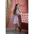 Платье нарядное детское KAFTAN, рост 86-92 см (28), серый, розовый - фото 105696440