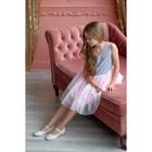 Платье нарядное детское KAFTAN, рост 86-92 см (28), серый, розовый - фото 105696442