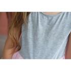 Платье нарядное детское KAFTAN, рост 86-92 см (28), серый, розовый - фото 105696443