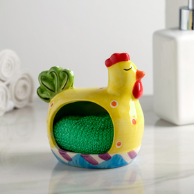 """Stand sponge """"chicken"""", MIX color"""