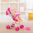 Пупс «Малыш в коляске», МИКС - фото 106528355