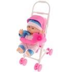 Пупс «Малыш в коляске», МИКС - фото 106528357