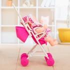 Пупс «Малыш в коляске», МИКС - фото 106528359