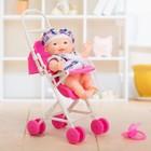 Пупс «Малыш в коляске», МИКС - фото 106528360