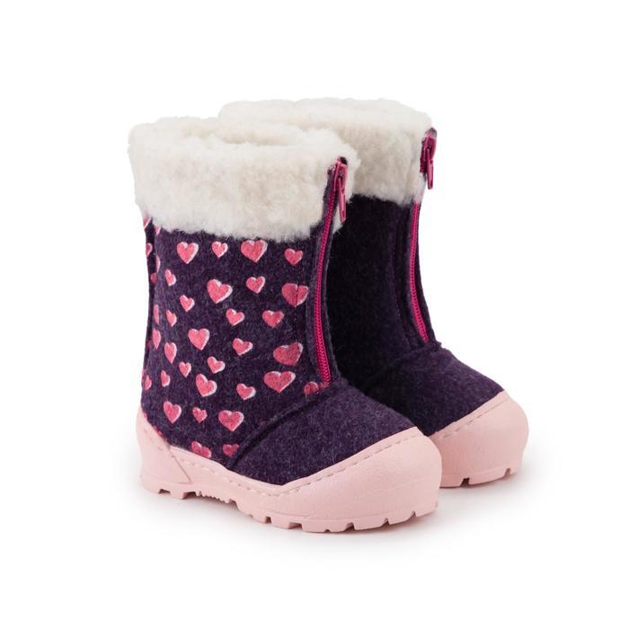 Валенки детские, цвет фиолетовый/розовый, размер 24