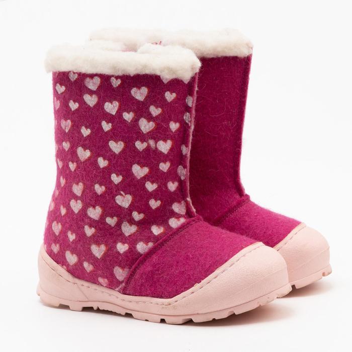 Валенки детские, цвет розовый, размер 30