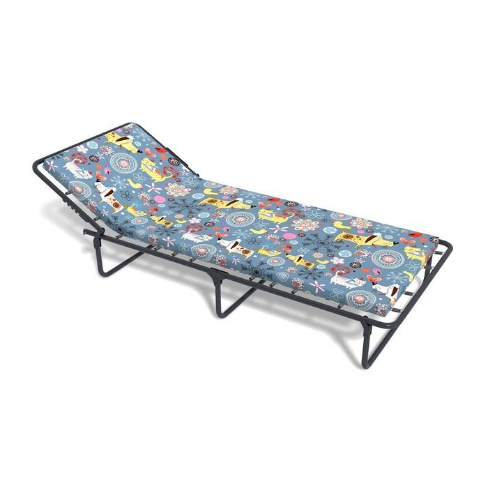 Раскладная кровать «Кроха П» с матрасом, ткань, 1450 × 660 × 240 мм, цвет МИКС