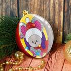 """Новогодний шар, фреска """"Мышонок Сеня"""""""