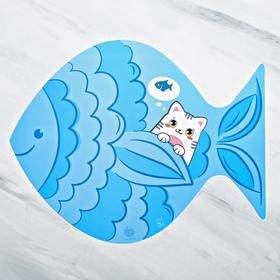 Коврик под миску 'Хочу рыбку!', 35х28см Ош