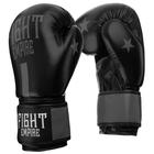 Перчатки боксёрские соревновательные FIGHT EMPIRE, 12 унций, цвет чёрный/серый