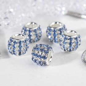 """Разделитель """"Дорожка"""", цвет синий в серебре"""