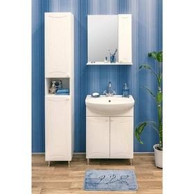 Набор мебели Карина 45 правый: тумба с раковиной + шкаф зеркало