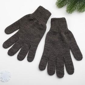 Перчатки женские, цвет тёмно-серый, размер 18