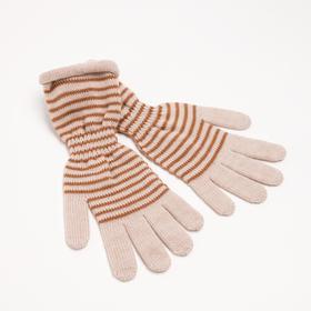 Перчатки женские арт 209 цвет бежевый , р-р 18