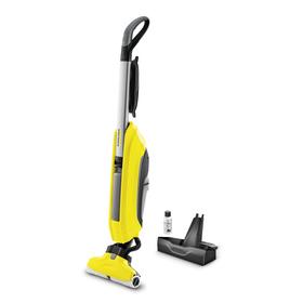 Пылесос Karcher FC 5, для влажной уборки, 460 Вт, 0.4 л, 500 об/мин, серо-жёлтый