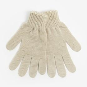 Перчатки женские, цвет бежевый, размер 18