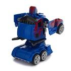 Робот-трансформер инерционный «Оптимус», трансформируется автоматически при столкновении - фото 105503714